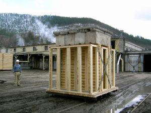Log Wall Settling